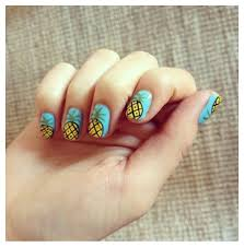 nail art design with fresh fruits ideas