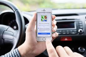 google images hands iphone 5s with google maps in the hands of driver editorial image