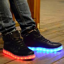 light up shoes for adults men men women high top led shoes for adults white black glowing light up