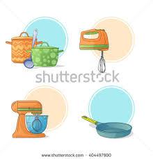 Kitchen Utensils And Tools by Set Kitchen Utensils Cartoon Style Kitchen Stock Vector 404497900