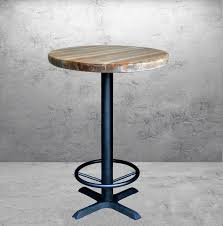 Reclaimed Wood Bar Table Table Entrancing Round Wood Pub Tables Pedestal Pub Table Wood