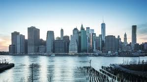of manhattan great view of manhattan skyline from at dusk from day to