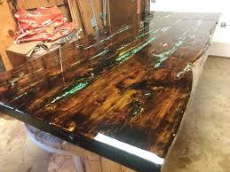 live edge table with turquoise inlay custom table tops custom table wood and concrete table live edge