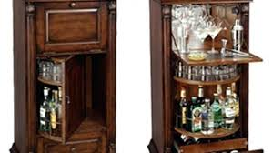 Mini Bar Cabinet Bar Cabinet Home Rustic With Chalet Glassware