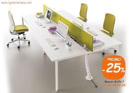 lignes bureau bureau open space pour 4 personnes design plateau coulissant en promo