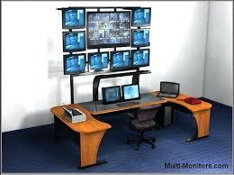 computer desk for dual monitors desk dual monitor compact computer desk 21 amazing dual monitor