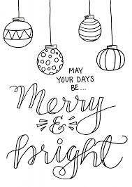 christmas coloring page one artsy mama