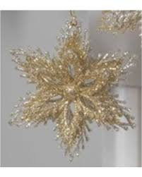 great deals on glittered starburst ornaments gold plastic and