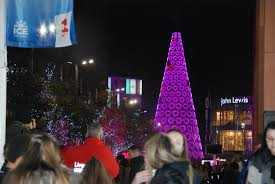 city lit up by uk u0027s tallest christmas tree