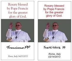 rosaries blessed by pope francis from the back of the church or scam need a rosary blessed