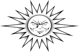 worksheet of a sun tattoo design printable coloring point