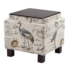 madison park shelley square storage ottoman with pillows ebay