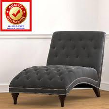 Grey Chaise Lounge Tiffany Grey Velvet Chaise Abbyson Living Lounge Chair Sofa Ebay