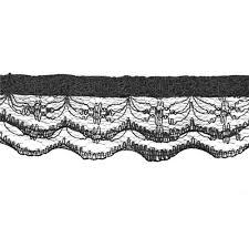 black lace trim 1 lace trim black discount designer fabric fabric