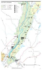 First Landing State Park Trail Map by Delaware Water Gap Maps Npmaps Com Just Free Maps Period