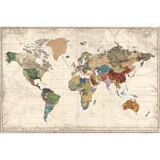 World Map Home Decor All Wall Art Wayfair World Map Of Maps By Studio Voltaire Graphic