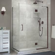 black dreamline shower doors showers the home depot