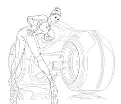Light Cycle Pin Up Wip By Joegrafix On Deviantart Pin Up Coloring Pages