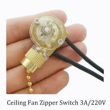 Ceiling Fan Light Pull Chain Switch Zipper Switch Wall Light Switch Ceiling Fan Switch 2 Wire Single