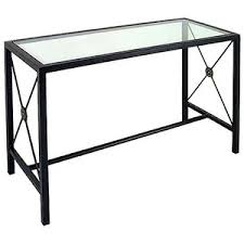 iron console sofa table glass top metal base polyvore
