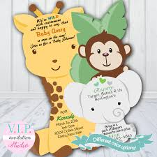 monkey invitations baby shower jungle baby shower invitation giraffe shower invitations