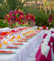 sunset reception decor theme the combination of colors http