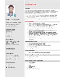 Drafting Resume Examples by Curriculum Vitae 1