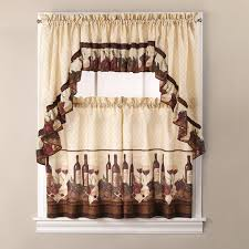 brilliant kitchen curtains wine theme designs with best 25 cafe
