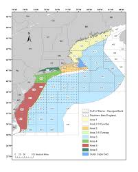Map Of New England Area by Species Atlantic States Marine Fisheries Commission