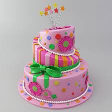 3d cake celebration cake 3d model cgtrader