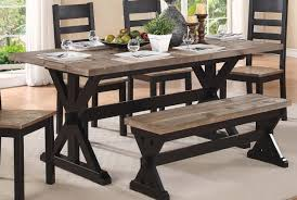 table 3 pcs coffee table set country style two tone wood finish