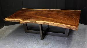 redwood u0026 painted steel coffee table dorset custom furniture vt
