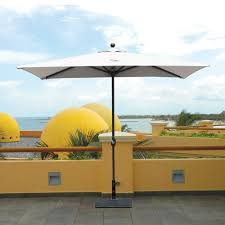 Patio Half Umbrella by Galtech Patio Umbrellas And Bases Aluminum Teak And Cantilever