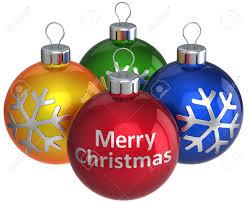 xmas kerstballen merry christmas tekst op rode bal en drie