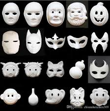 unpainted masks cool diy white paper unpainted party mask various venetian women