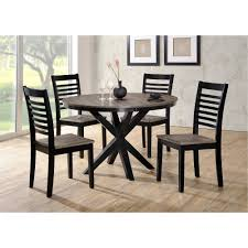 Beachy Dining Room Tables Ebony And Gray Contemporary 5 Piece Round Dining Set South Beach