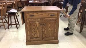 drop leaf kitchen island amish drop leaf kitchen island demonstration