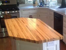 soapstone countertops white kitchen island with butcher block top