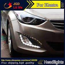 hyundai elantra daytime running lights aliexpress com buy free shipping 12v 6000k led drl daytime