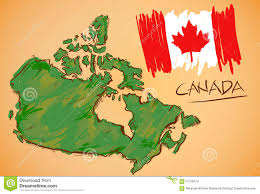 Canada Map by Canada Map And National Flag Vector Stock Vector Image 57156473