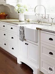 white kitchen cabinets with black knobs white kitchen design ideas better homes gardens