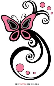 butterfly swirls design