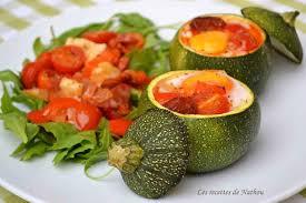 cuisiner courgette ronde recette courgettes rondes farcies aux oeufs tomates poivrons et