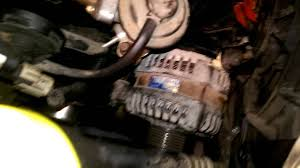 how to replace a alternator on a 2001 dodge caravan 3 3ltr youtube