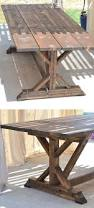 building a outdoor rustic farmhouse table