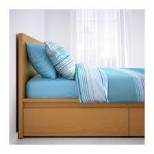 malm bed frame high w 2 storage boxes white lur 246 y malm bed frame high w 2 storage boxes oak veneer luröy standard