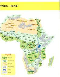 Africa Physical Map by Social Studies Ancient Civilizations Pacific Spirit Pod