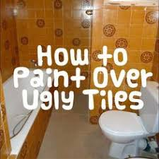 Painting Bathroom Tile by How To Paint Tiles It Is A Super Easy And Very Cheap Way Of