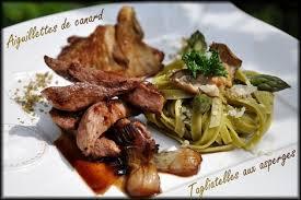 la cuisine de doria aiguillettes de canard avec sa sauce miel balsamique accompagnées de