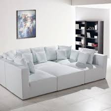 Modern White Bonded Leather Sectional Sofa Divani Casa Modern White Bonded Leather From Contemporary